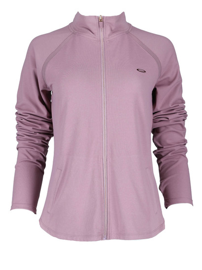Elite Mesh Zip Through Top Womens