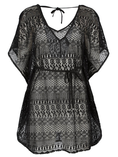 Womens Plus Lace Cover Up