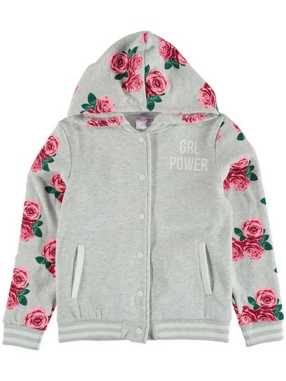 Girls Hooded Collegic Jacket