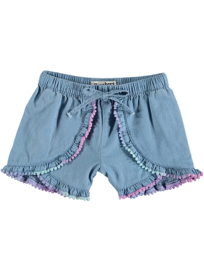 Toddler Girls Chambray Shorts