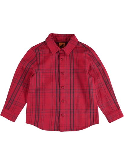 Toddler Boys Long Sleeve Check Shirt