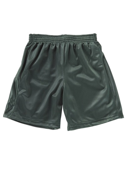 BOTTLE GREEN BOYS MESH REVERSIBLE SHORTS