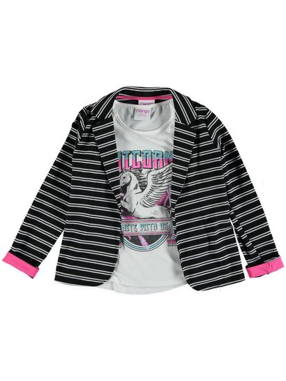 Girls Jacket And T Shirt Set