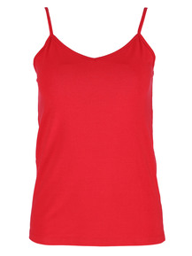 Plus Basic V-Neck Neck Cami Womens