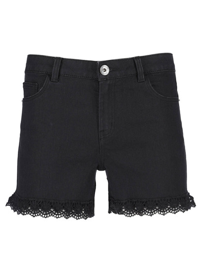 Womens Denim Crochet Short
