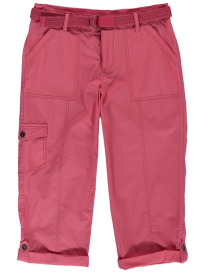 PLUS BELTED POPLIN CROPPED PANT WOMENS