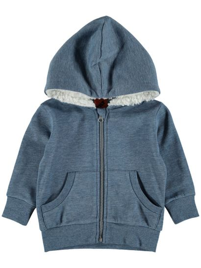 TODDLER BOYS FLEECE JACKET-SHERPA LINED HOOD