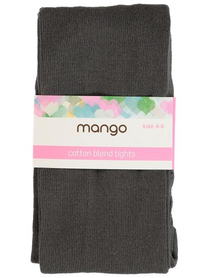 GIRLS SCHOOL GREY COTTON BLEND TIGHTS