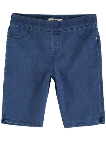 PLUS PULL ON DENIM SHORT WOMENS