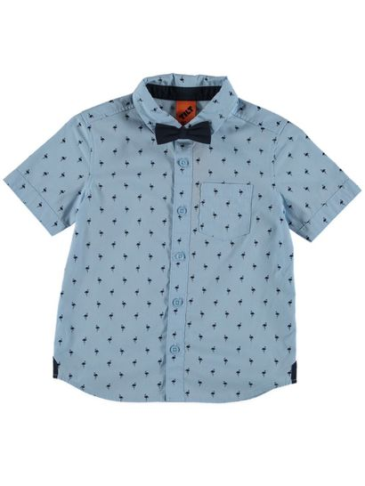 Boys Ss Shirt With Bowtie