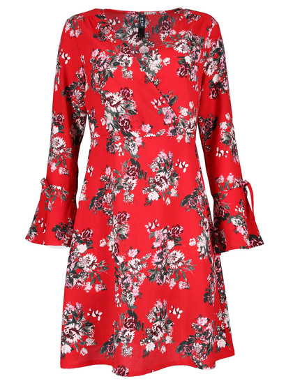 Womens Bell Sleeve Dress