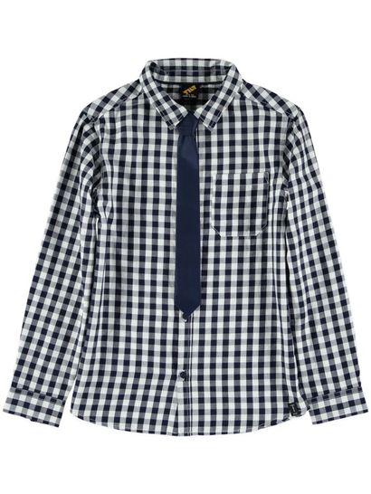Boys Check Shirt With Tie
