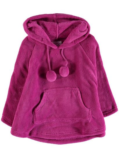 Girls Coral Fleece Poncho