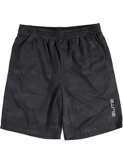 BLACK CAMOU BASKETBALL SHORTS