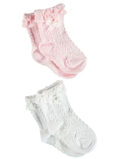 BABY 2PK LACE PARTY SOCKS