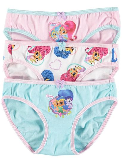 Girls 3Pk Shimmer And Shine Briefs
