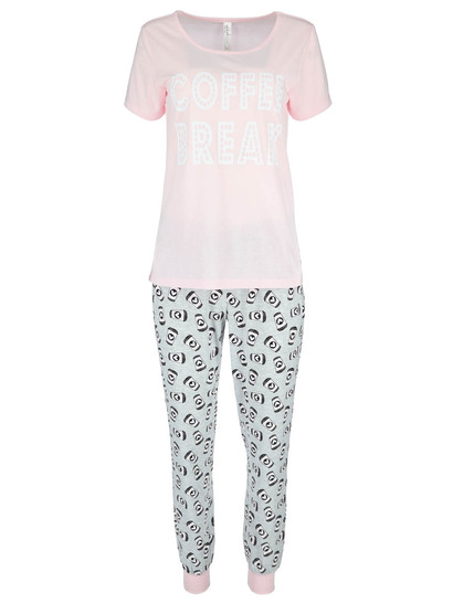 Womens Short Sleeve Jogger Sleep Set 5e6af6c55