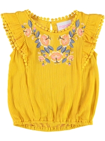 Toddler Girl Woven Fashion Top