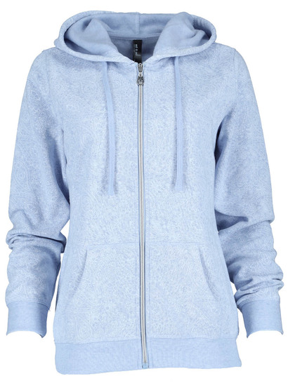 Plus Zip-Though Fleece Hoodie Womens