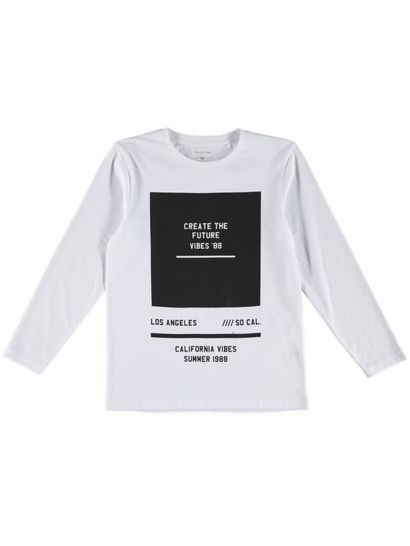 Boys Long Sleeve Print Tee