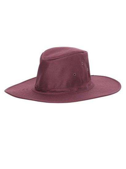 MAROON KIDS WIDE BRIM HAT
