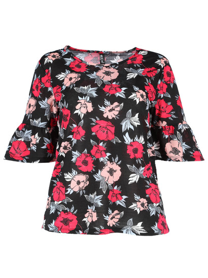 Plus Frill Sleeve Top Womens