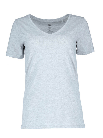 Plus Organic Cotton Blend Vneck Tee Womens