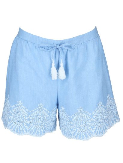 Womens Broderie Scalloped Short