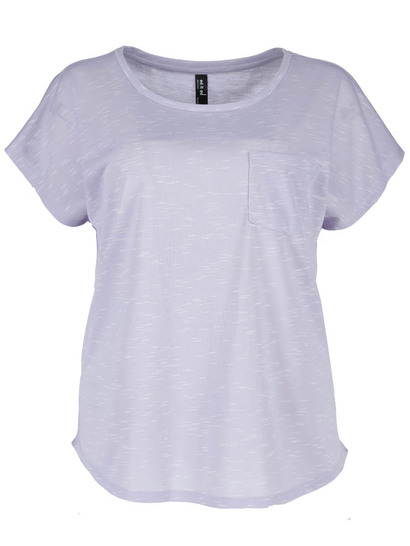 Womens Plus Space-Dye Tee
