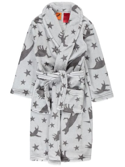 Boys Coral Fleece Dressing Gown