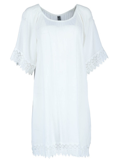 Womens Crochet Trim Kaftan