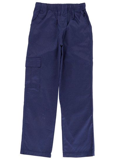 NAVY BLUE BOYS CARGO DRILL PANTS