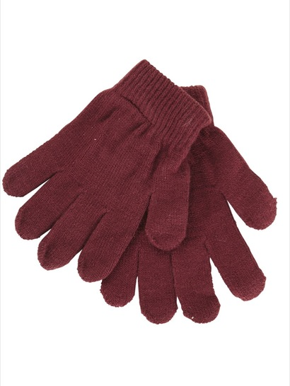 MAROON KIDS GLOVES