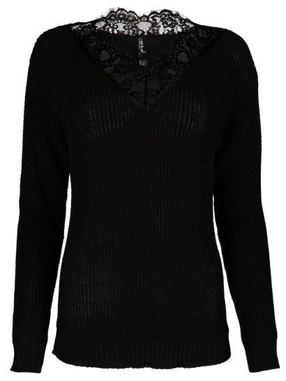 Lace Trim Pullover Womens