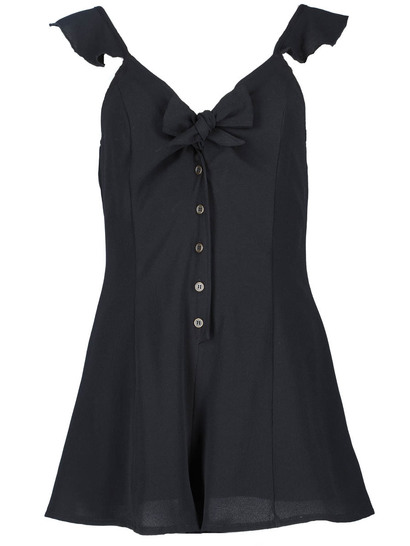 MISS MANGO BLACK KNOT FRONT PLAYSUIT