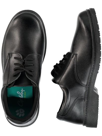 Boys Huston Leather School Shoe