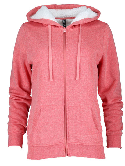 WOMENS FLEECE JACKET-SHERPA LINED HOOD