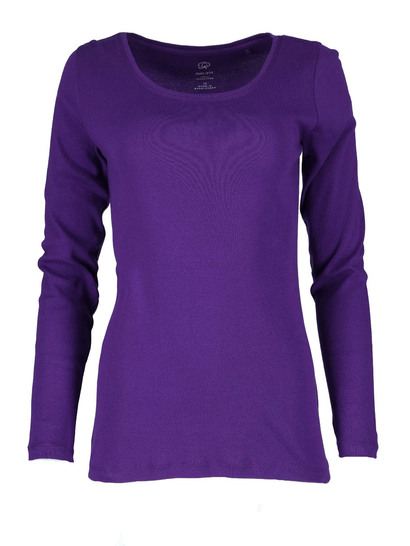 Plus Organic Cotton Long Sleeve Top Womens