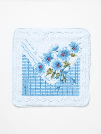 PRINTED JACQUARD DAISY FACEWASHER