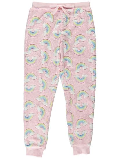 Girls Cuffed Coral Fleece Pants