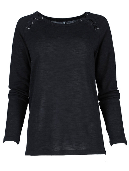 Laced Raglan Pullover Womens