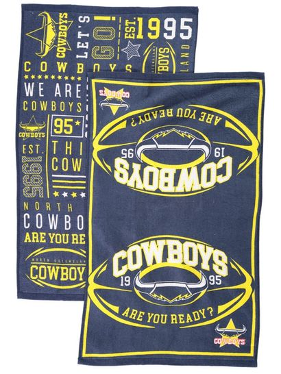 Cowboys 2Pk Tea Towel