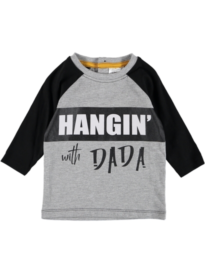 Baby Long Sleeve Raglan Print Shirt