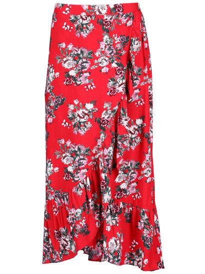 Plus Women Mock Wrap Skirt