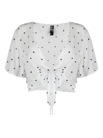 Plus Knot Front Cardi Womens
