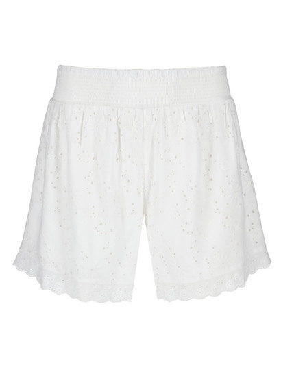 Womens Shirred Broderie Short