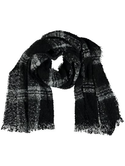 Women Brushed Check Scarf