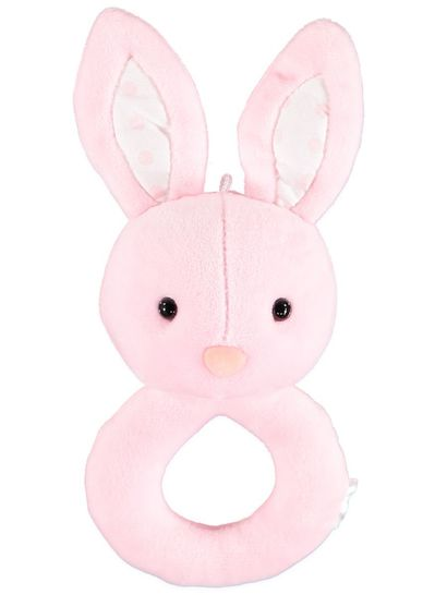 Rabbit Round Baby Rattle