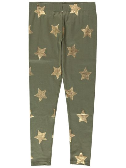 Girls Star Foil Leggings