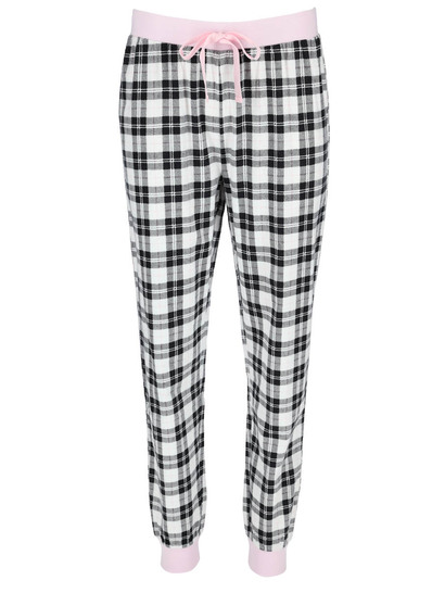 Plus Womens Flannel Jogger